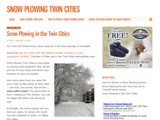 Snow Plowing Twin Cities