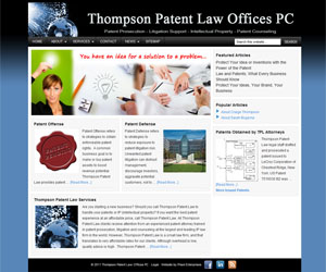 Thompson Patent Law New Website